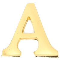 Small 32mm Brass Letter A Self Adhesive