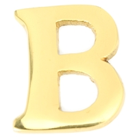 Small 32mm Brass Letter B Self Adhesive