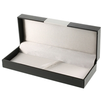 Luxury Box To Hold 1 Or 2 Pens With Metal Plate For Engraving