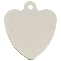 Nickel Plated Pet Discs Heart Shaped