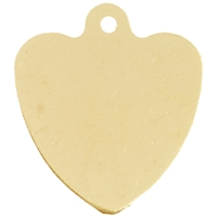 Gilt Plated Pet Discs Heart Shaped