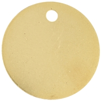 Gilt Plated Pet Discs 25mm 1 Inch
