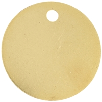 Gilt Plated Pet Discs 38mm 1 1/2 Inch