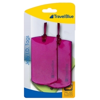 Travel Blue Jelly Luggage Tags Set of Two