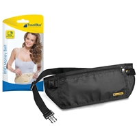 Travel Blue RFID Protected Money Belt. Black and Beige Assorted