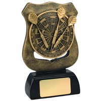 5.75 Inch Resin Darts Shield Award Antique Gold