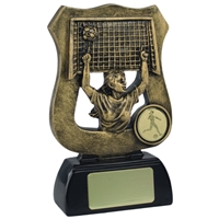 5 3/4 Inch Female Goal Shield Gold