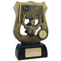 6 3/4 Inch Female Goal Shield Gold