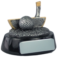 2.5 Inch Resin Golf Putter Award Antique Silver
