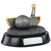 4 Inch Resin Golf Putter Award Antique Silver