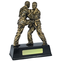 7.5 Inch Resin Judo Award Antique Gold