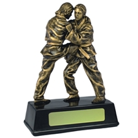 6.25 Inch Resin Female Judo Award Antique Gold