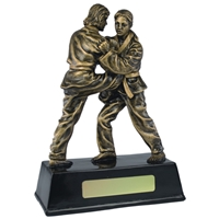 7.5 Inch Resin Female Judo Award Antique Gold