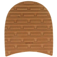 Brick Design Rubber Heels 7.5mm Size 2. 3 1/4 Caramel