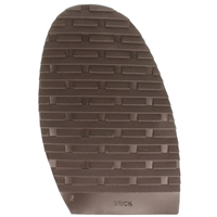 Brick Design Stick On Soles 3.0mm Size 2 Ladies Brown