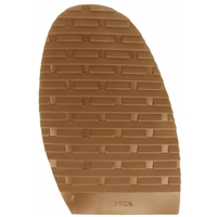 Brick Design Stick On Soles 3.0mm Size 2 Ladies Caramel