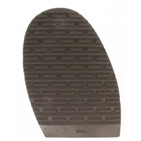 Brick Design Stick On Soles 4.0mm Size 4 Gents Brown