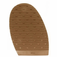 Brick Design Stick On Soles 4.0mm Size 4 Gents Caramel