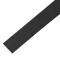 Vibram Dupla Toppiece 85cm Strip 6mm Black Size 2 1/2 Inch