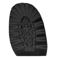 Vibram Grizzly 7mm Half Soles Gents Black