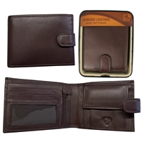 RFID Sheep Leather Wallet in Tin Brown