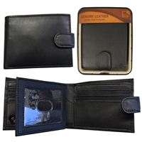 RFID Sheep Leather Wallet in Tin Black
