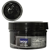 Woly Shoe Cream Jar 50ml Black 018