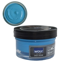 Woly Shoe Cream Jar 50ml Capri Blue 374