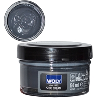 Woly Shoe Cream Jar 50ml Dark Grey 027
