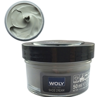 Woly Shoe Cream Jar 50ml Light Grey 088