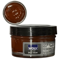 Woly Shoe Cream New Jar 50ml Med Brown 008/032