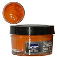 Woly Shoe Cream Jar 50ml Orange 063