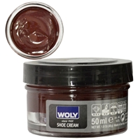 Woly Shoe Cream Jar 50ml Red Brown 014
