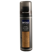 Woly Suede & Nubuck Liquid Renovator Dark Brown 75ml