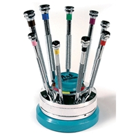 A&F Swiss Screwdriver Set On A Rotating Stand
