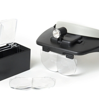 Binocular Head Loupe With LED Light And Interchangable Lense