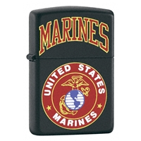 Zippo Black Matte Lighter US Marines