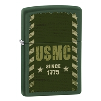 Zippo Green Matte Lighter Marines