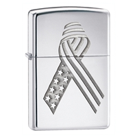 Zippo High Polish Chrome Lighter Regular Unity Armor