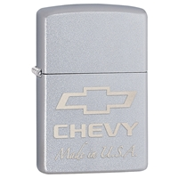 Zippo Lighter Satin Chrome Chevy Made In USA