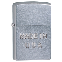 Zippo Lighter Street Chrome Made In The USA Stamp