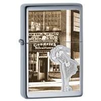 Zippo High Polish Vintage Chrome Windy Windproof Lighter