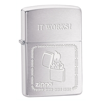 Zippo Lighter Brushed Chrome, It Works