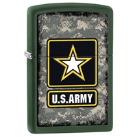 Zippo Lighter Green Matte US Army - Star