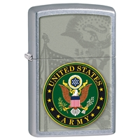 Zippo Lighter Street Chrome US Army - Crest