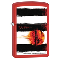 Zippo Lighter Red Matte Rush - Vapor Trails