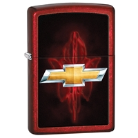 Zippo Lighter Candy Apple Red Chevy  Bow Tie