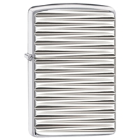 Zippo Lighter High Polish Chrome, Armor Engine Turn
