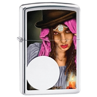 Zippo Lighter High Polish Chrome, Fortune Teller