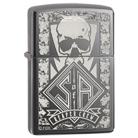 Zippo Lighter Black Ice Sons Of Anarchy